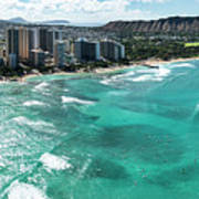 Waikiki To Diamond Head Poster
