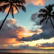 Waimea Beach Sunset 3 - Oahu Hawaii Poster
