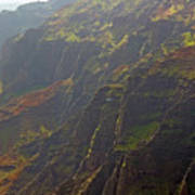 Waimea Canyon On A Misty Day In Kauai Poster