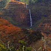 Waimea Canyon Waterfall Poster