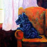 Waiting For Mom - Scottish Terrier Poster