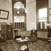 Waiting Room Of Dr. C. H. Pearce, D.d.s. Dentist, Watsonville,  Poster