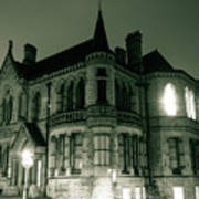 Waldorf College, The Centre For Science And Arts By Night Stround Gloucestershire Poster