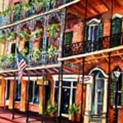 Walk In The French Quarter Poster