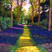 Walk Through Blue Poster