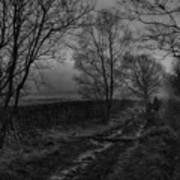 Walking In A Muddy Lane Poster