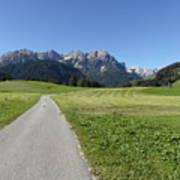 Walking To Niederdorf In The Dolomites Poster