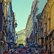 Walkway Over The Street - Lisbon Poster