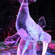 Walrus Ice Art Sculpture - Alaska Poster