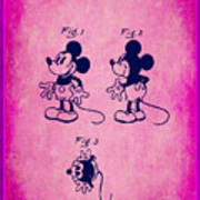 Walt Disney Mickey Mouse Toy Patent 2g Poster