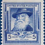 Walt Whitman Postage Stamp Poster