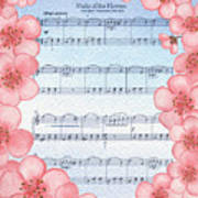 Waltz Of The Flowers Dancing Pink Poster