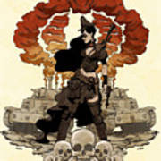 War Maiden Poster by Brian Kesinger