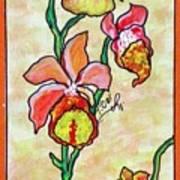 Warm Flower Study Poster