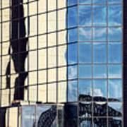 Warped Harbour Bridge Reflection By Kaye Menner Poster