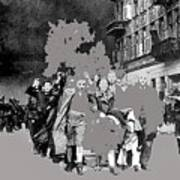 Warsaw Ghetto Uprising Number 1 1943 Color Added 2016 Poster