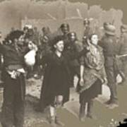 Warsaw Ghetto Uprising Number 2 1943 Color Added 2016 Poster