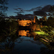 Warwick Castle At Night Poster