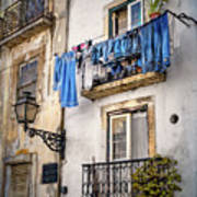 Washday Blues In Lisbon Portugal  Poster