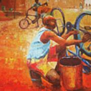 Washing My Bike Poster