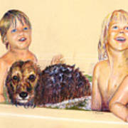 Washing The Dog Poster