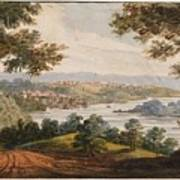 Washington And Georgetown From The Alexandria Road Poster