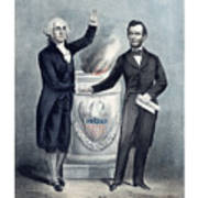 Washington And Lincoln Poster
