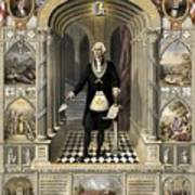 Washington As A Freemason Poster