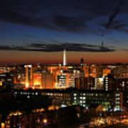 Washington Monument Night Sky Poster