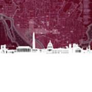 Washington Dc Skyline Map 3 Poster
