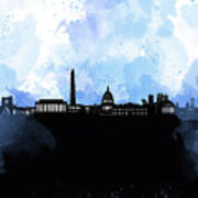 Washington Dc Skyline Minimalism 8 Poster