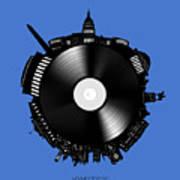 Washington Dc Skyline Vinyl 9 Poster
