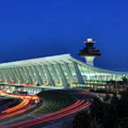 Washington Dulles International Airport At Dusk Poster