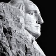 Washington Granite In Black And White Poster