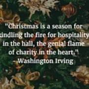 Washington Irving Quote Poster