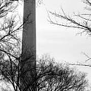 Washington Monument Bw Poster