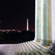 Washington Monument From Stairs Of Jefferson Poster