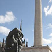 Washington Monument In Baltimore Poster