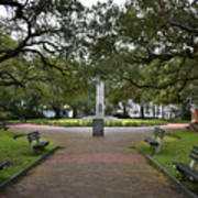 Washington Park, Charleston, Sc Poster