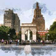 Washington Square Park Greenwich Village New York City Poster
