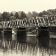 Washington's Crossing Bridge On A Rainy Day Poster