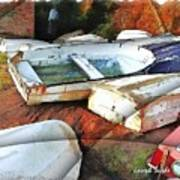 Wat-0012 Tender Boats Poster