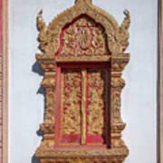 Wat Buppharam Phra Wihan Window Dthcm1582 Poster