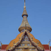 Wat Chaimongkron Phra Wihan Gable And Spire Dthcb0090 Poster