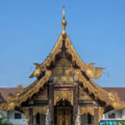 Wat Jed Yod Gable Of The Vihara Of The 700 Years Image Dthcm0963 Poster