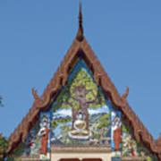 Wat Pho Samphan Phra Ubosot Gable Dthcb0066 Poster