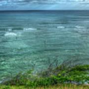 Watching From Afar Kuilei Cliffs Beach Park Surfing Hawaii Collection Art Poster