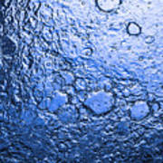 Water Abstraction - Blue Rain Poster