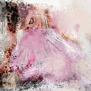 Water Colour Ballerina Poster