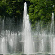 Water Fountain Show - Longwood Gardens In Pa Poster